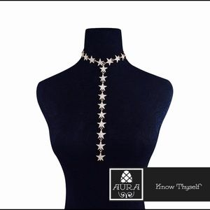 Aura Jewelry - MILF Gold Diamonds Star Choker Necklace Punk Goth